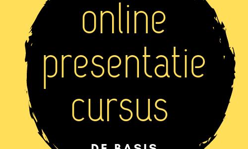 online presentatie cursus